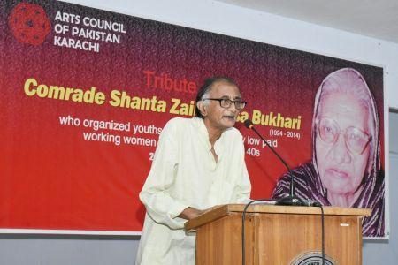 Tribute To Comrade Shanta Zaibunisa Bukhari At Arts Council Karachi (4)
