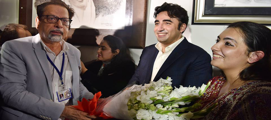 An inauguration of exclusive Painting exhibition done by Bilawal Bhutto