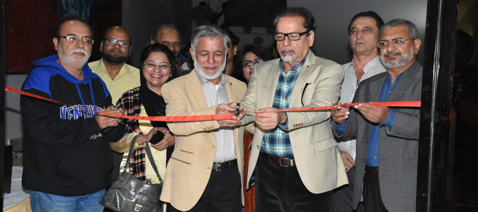President Arts Council inaugurated the paper carving calligraphy exhibition