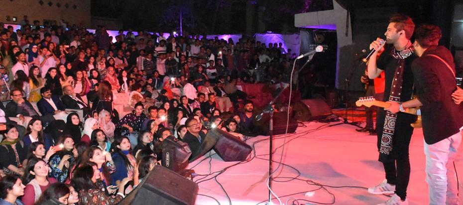 Karachi Youth Festival 2017-18 begin, prominent singer Asim Azhar performed live