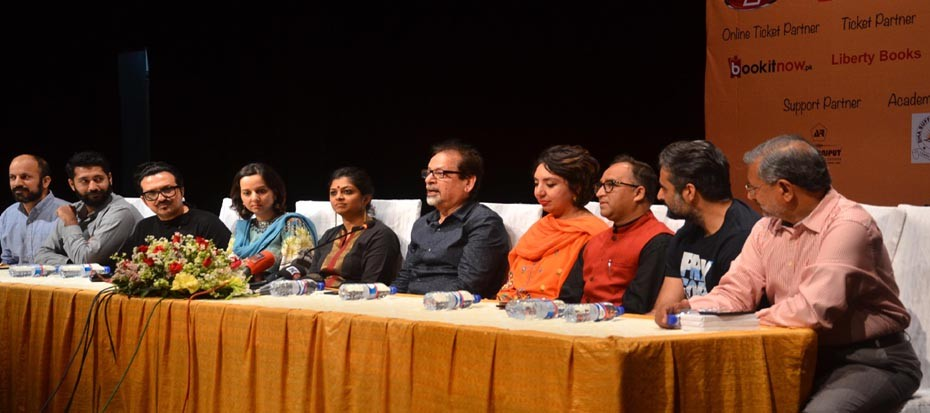 "Press Conference of upcoming theater play ""Mian, Biwi aur Wagah"""