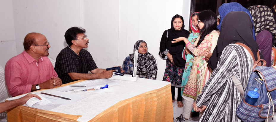 Arts Council organized a Free Medical Camp Today
