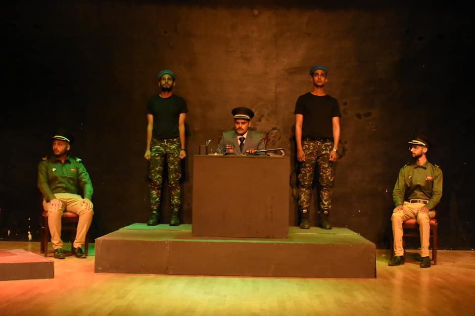 "Theater play ""Court Martial"""
