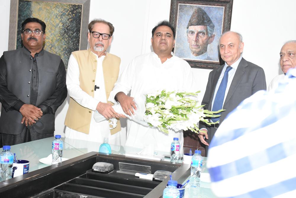 Fawad Chaudhry visits Arts Council of Pakistan